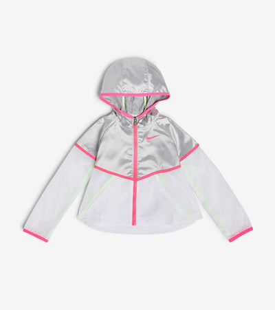 Nike  Girls Metallic Windrunner Jacket  White - 36G077G-001 | Jimmy Jazz