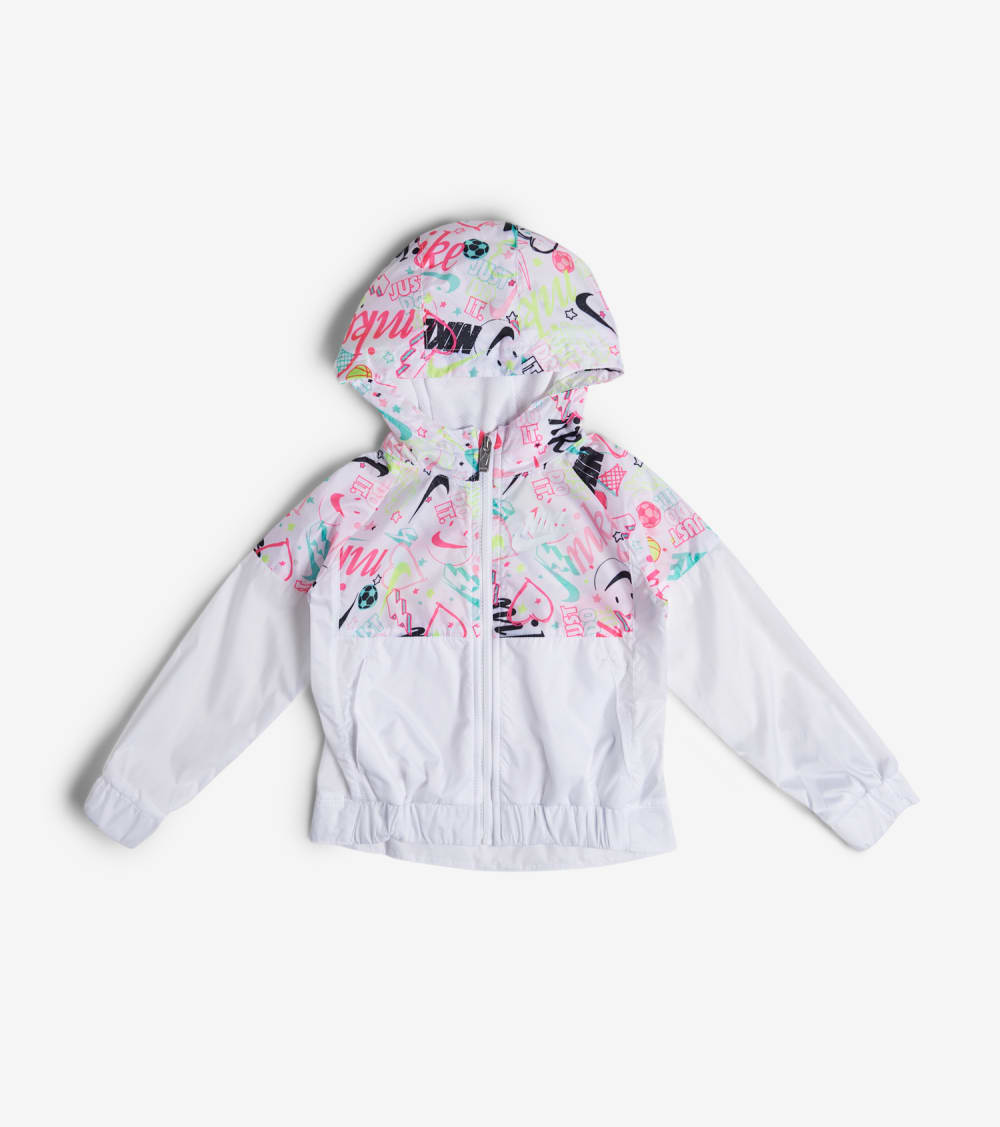 Nike  Girls 4-6X Scribble Windrunner Jacket  White - 36G205-001 | Jimmy Jazz