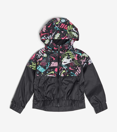 Nike  Girls Scribble Wind Jacket  Black - 36G205G-023 | Jimmy Jazz