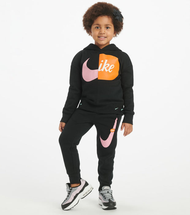 Nike  Girls 4-6X Split Pill Pullover Hoodie  Black - 36G266-023 | Jimmy Jazz
