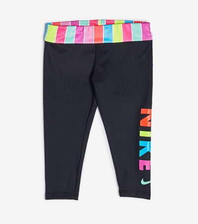 Nike  Girls Dri-FIT Cropped Leggings  Black - 36G372-023 | Jimmy Jazz