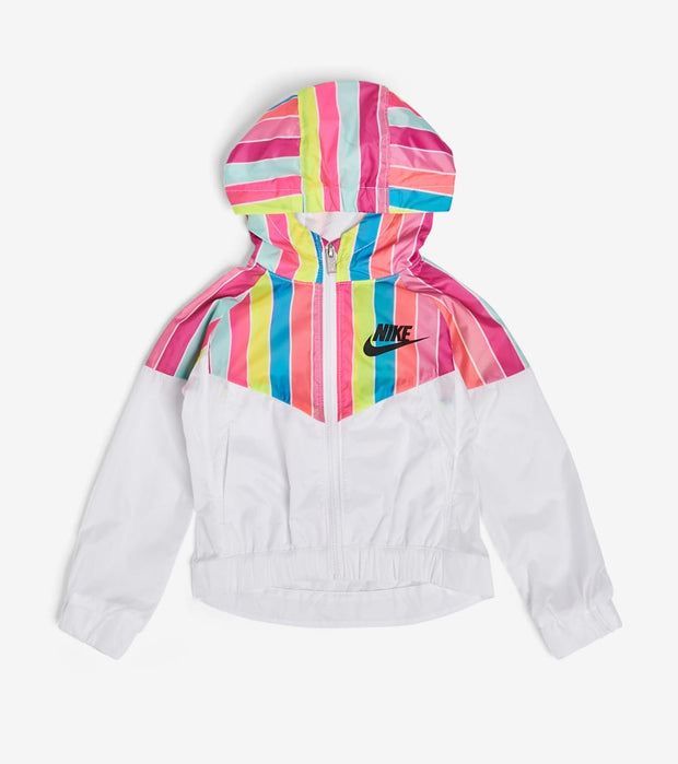 Nike  Girls NSW Stripe Windrunner Jacket  White - 36G376-001 | Jimmy Jazz