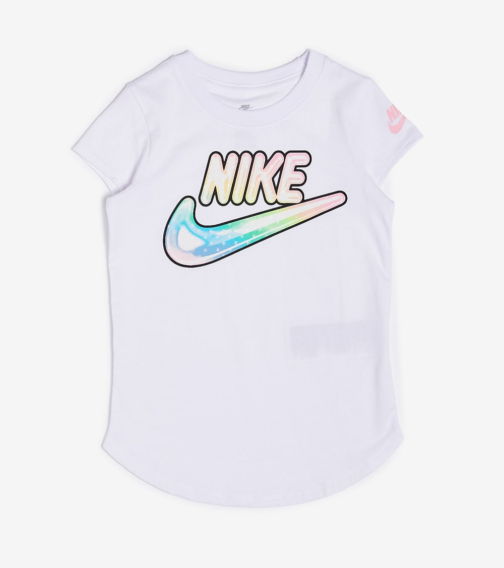 Nike  Girls 4-6 Air Bubble Tee  White - 36G578-001 | Jimmy Jazz