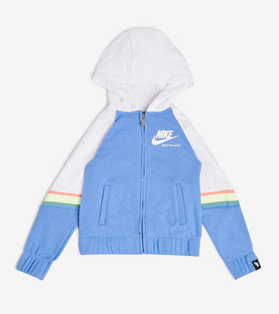 Nike  Girls Heritage Full Zip Hoodie  Blue - 36G713-U8H | Jimmy Jazz