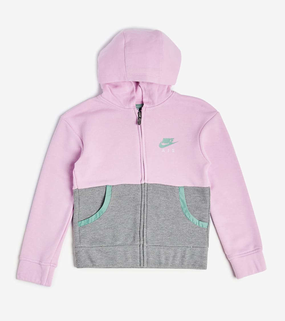 Nike  Girls 4-6x Nike Sports Wear FZ Hoodie  Pink - 36G715-A54 | Jimmy Jazz