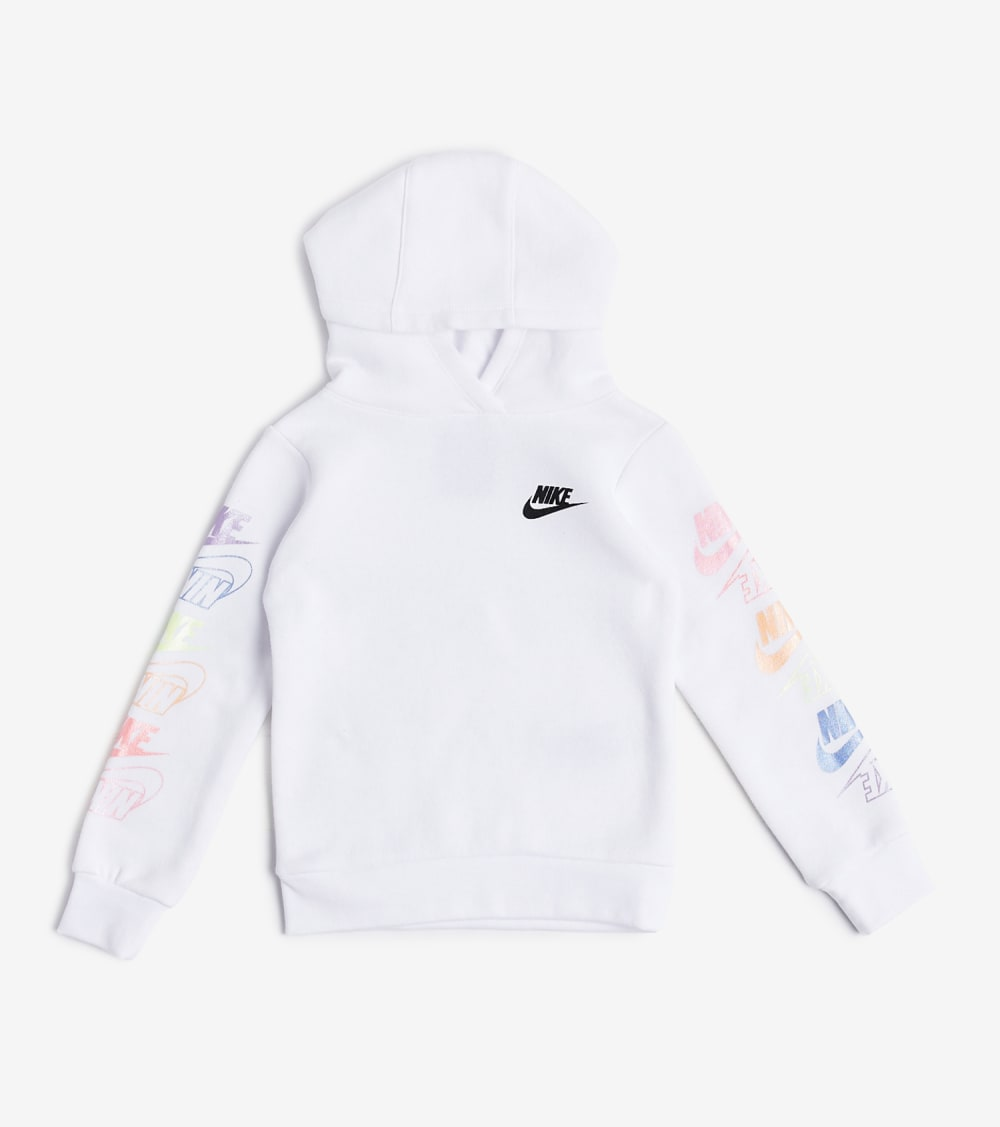 Nike  Girls 4-6x Futura Stack Po Hoodie  White - 36G739-001 | Jimmy Jazz