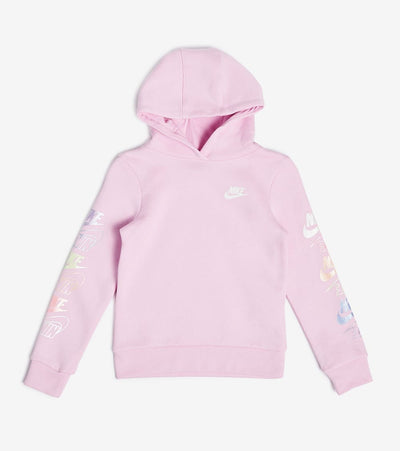 Nike  Girls Futura Stack Pullover Hoodie  Pink - 36G739-A54 | Jimmy Jazz