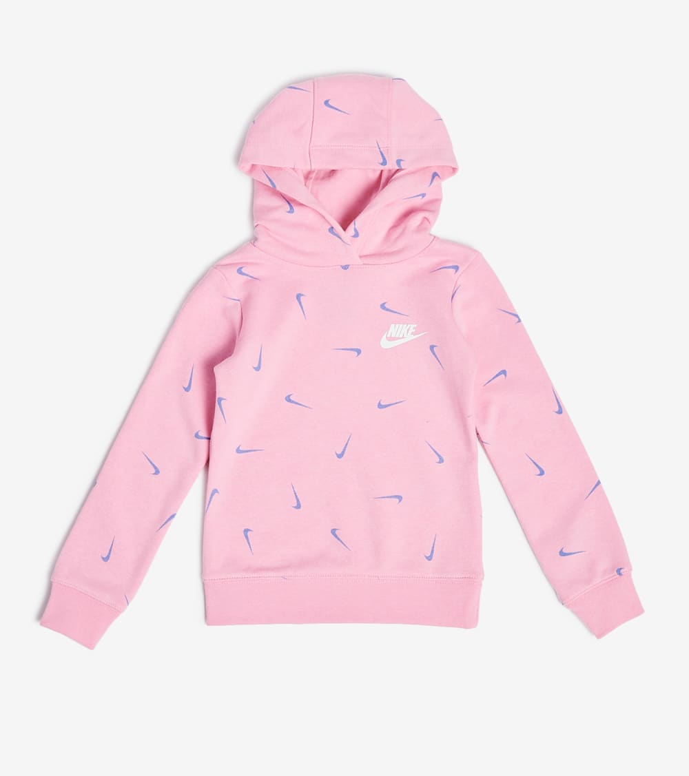 Nike  Girls Swooshfetti Pullover Hoodie  Pink - 36G936-A8F | Jimmy Jazz
