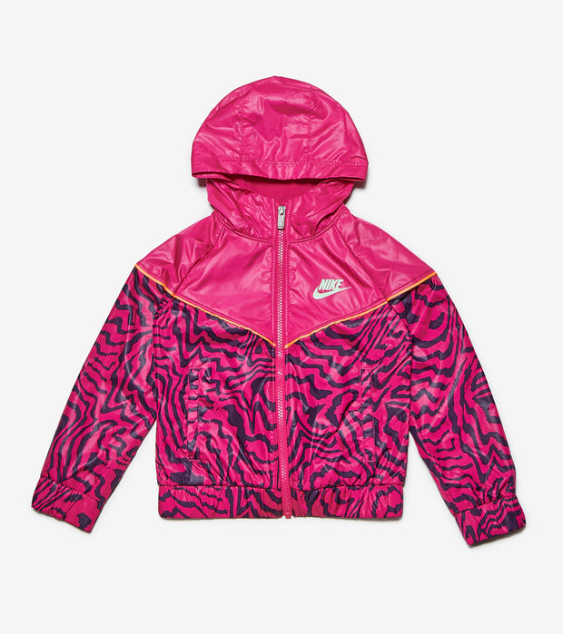 Nike  Girls Electric Zebra Windrunner  Pink - 36H326-A0I | Jimmy Jazz