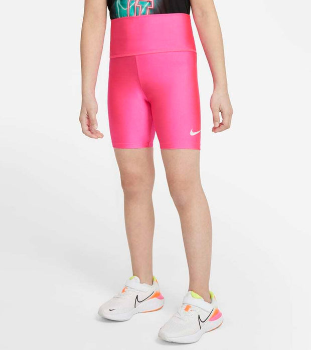 Nike  Girls High Waist Bike Shorts  Pink - 36H454-A96 | Jimmy Jazz