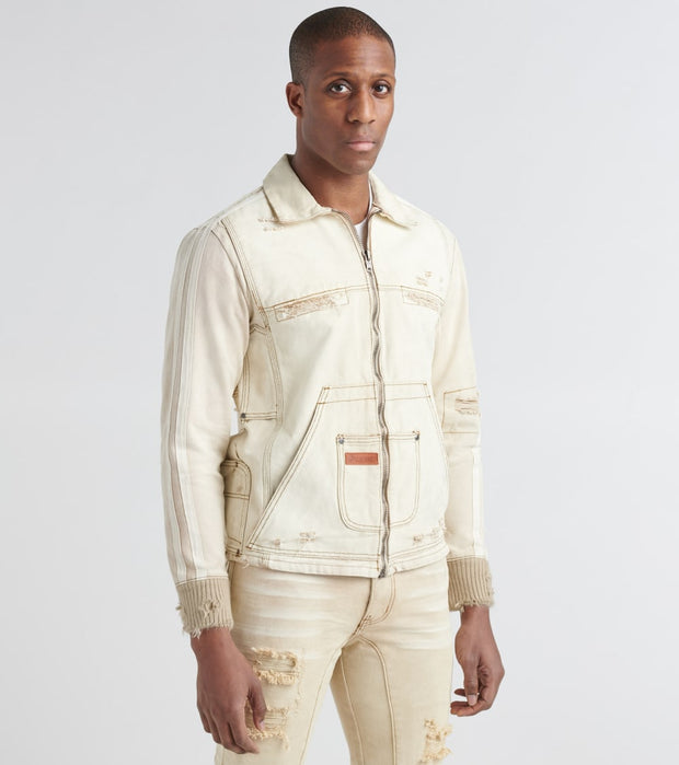 Iro-Ochi  Yamato Denim Jacket  Beige - 37222-CAN | Jimmy Jazz