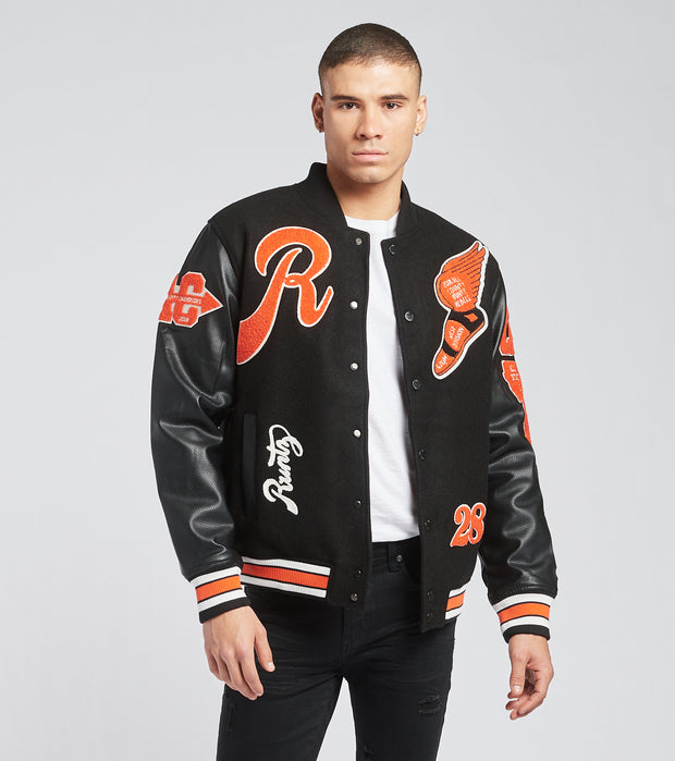 Runtz  All County Varsity Jacket  Black - 37345-BLK | Jimmy Jazz