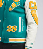 Runtz  All County Varsity Jacket  Green - 37345-JAD | Jimmy Jazz