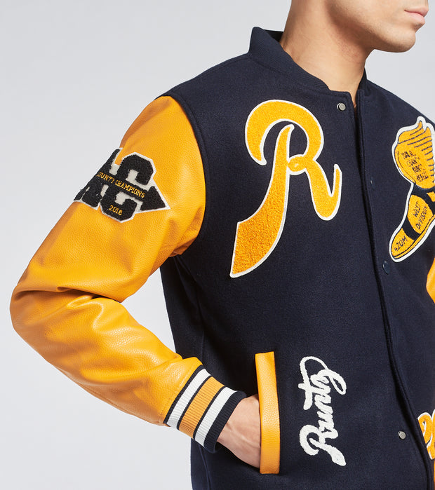 Runtz  All County Varsity Jacket  Navy - 37345-NVY | Jimmy Jazz