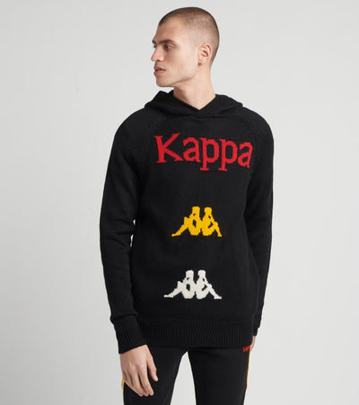 Kappa  Authentic Kasmart Hooded Sweater  Black - 381367W-A01 | Jimmy Jazz