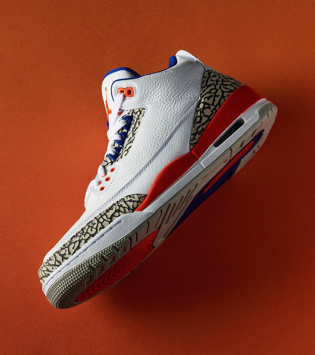 "Jordan  Air Jordan 3 Retro ""Knicks""  White - 398614-148 