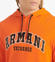 Armani Exchange  AX Varsity Hoodie  Orange - 3HZMFBZJ5CZ-1601 | Jimmy Jazz