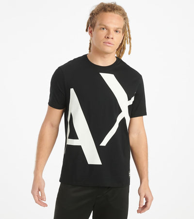 Armani Exchange  AX Big Logo Tee  Black - 3HZTBGZJA5Z-1200 | Jimmy Jazz
