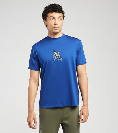 Armani Exchange  AX Logo Short Sleeve Tee  Blue - 3KZTLBZJ9AZ-1511 | Jimmy Jazz