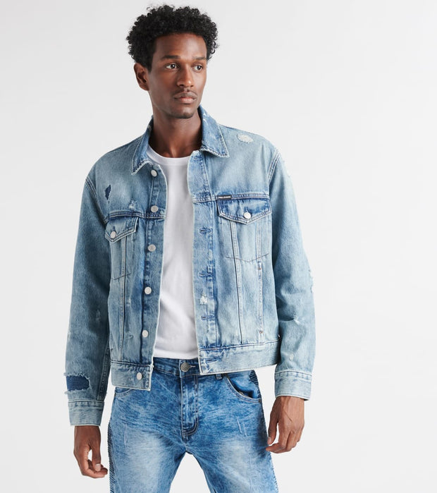 Calvin Klein  Foundation Trucker Jacket  Blue - 41Q4025-427 | Jimmy Jazz