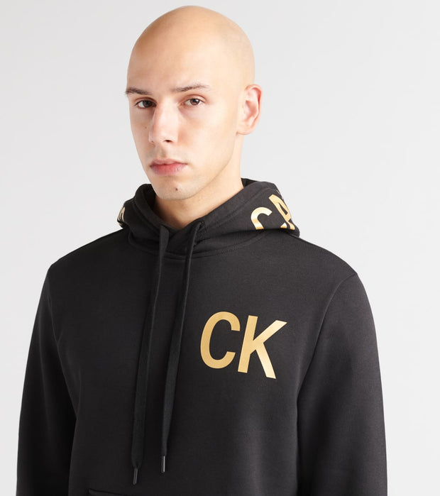Calvin Klein  Iconic Graphic Pullover Hoodie  Black - 41Q9001-010 | Jimmy Jazz