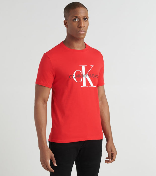 Calvin Klein  Unboxed Monogram Logo Tee  Red - 41Q9138-645 | Jimmy Jazz