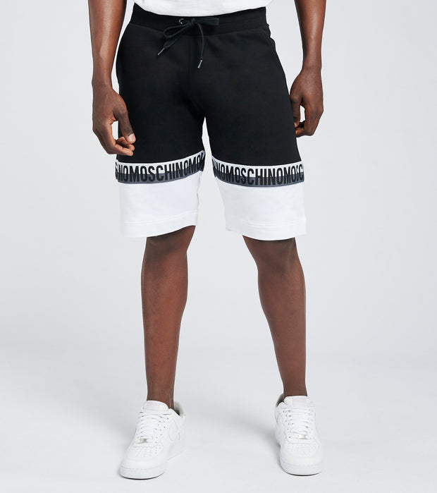 Moschino  BI Color Block Fleece Shorts  White - 43158120-1555 | Jimmy Jazz