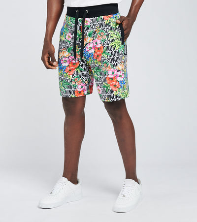 Moschino  Lost N Found Flowers Fleece Shorts  Multi - 43178122-1001 | Jimmy Jazz