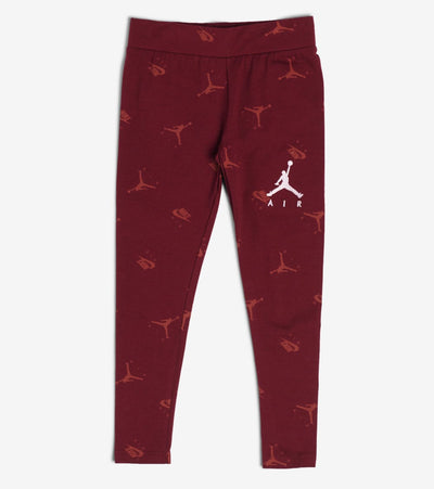 Jordan  Girls Printed Leggings  Burgundy - 45A244-R00 | Jimmy Jazz