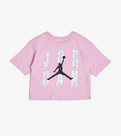 Jordan  Girls GFX Short Sleeve Tee  Pink - 45A365-A54 | Jimmy Jazz