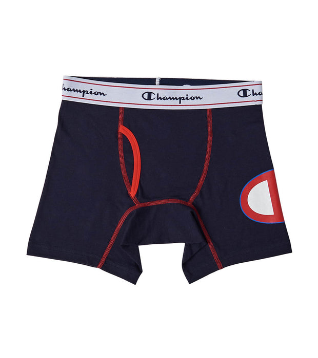 Champion  C Logo Boxer Brief  Navy - 4607-A1 | Jimmy Jazz