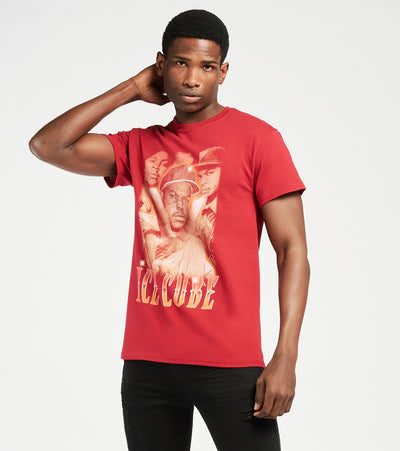 Merch Traffic  Ice Cube Short Sleeve Tee  Red - 50142074-CRD | Jimmy Jazz