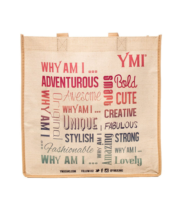 Essentials  WHY AM I HANDLE TOTE BAG  Beige - 51315-BEI | Jimmy Jazz
