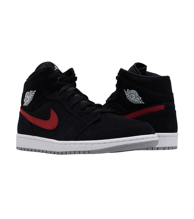 Jordan  1 Mid Sneaker  Black - 554724-065 | Jimmy Jazz