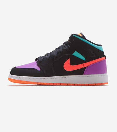 Jordan  Air Jordan 1 Mid  Black - 554725-083 | Jimmy Jazz