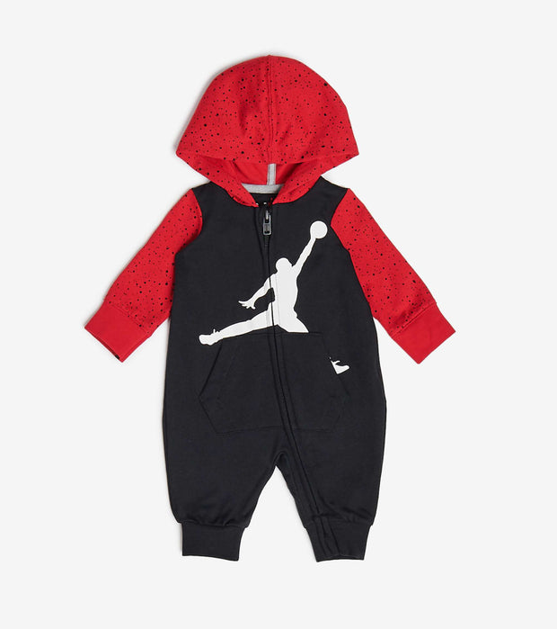 Jordan  Newborn Baby Jumpman Coveralls  Black - 556597-KR5 | Jimmy Jazz