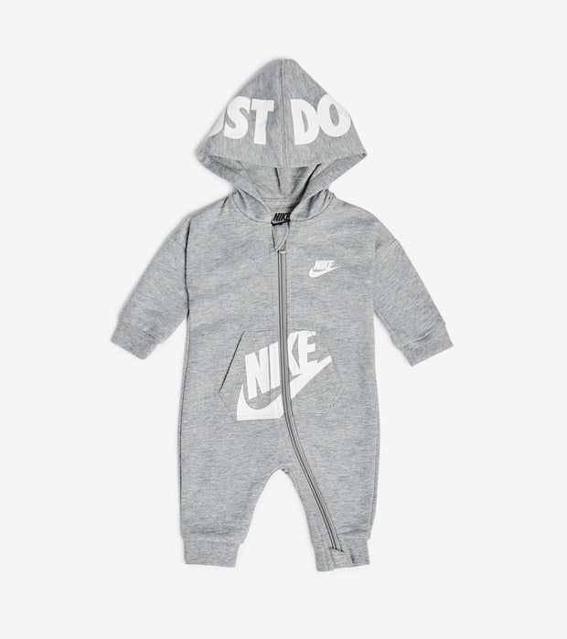 Nike  Newborn Baby Hooded Coveralls  Grey - 56G805-042 | Jimmy Jazz