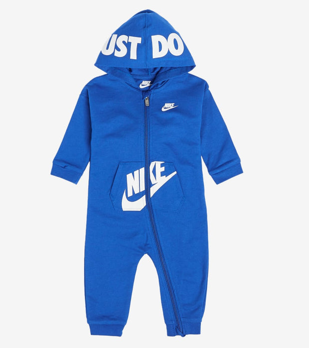 Nike  Newborn Hooded Baby Overalls  Blue - 56G805G-U89 | Jimmy Jazz
