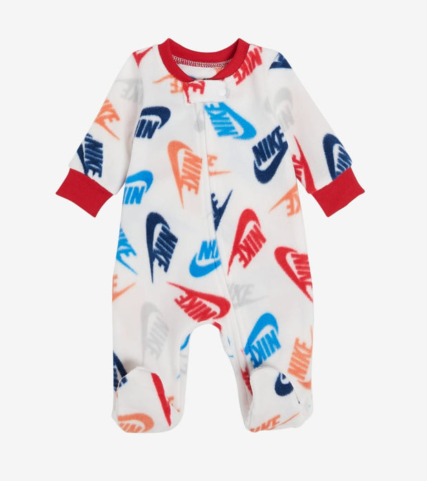 Nike  Boys Microfleece Footed Coveralls  White - 56G811G-001 | Jimmy Jazz