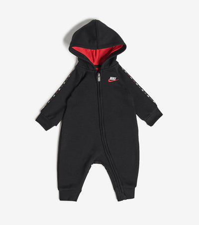Nike  Newborn Baby Micro Swoosh Coveralls  Black - 56H234-023 | Jimmy Jazz