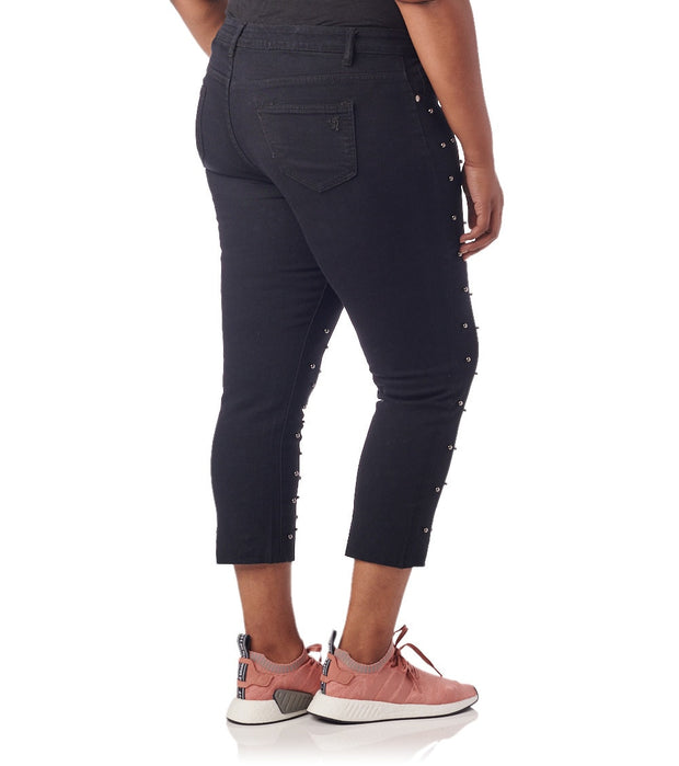 Essentials  Plus All Over Black Pearl Jeans  Black - 570913SBKX-BLK | Jimmy Jazz