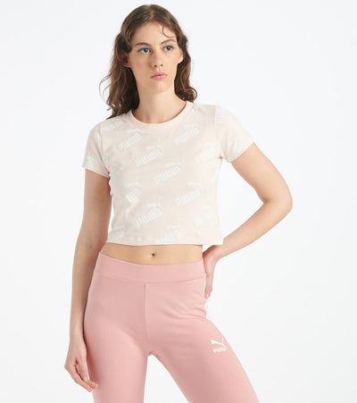 Puma  Amplified Crop Tee  Pink - 58122217-690 | Jimmy Jazz