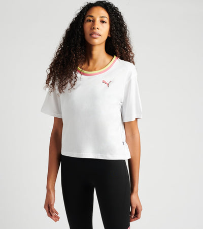 Puma  Celebration Style Tee  White - 58415902-100 | Jimmy Jazz