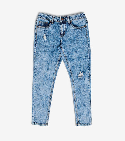 Essentials  Acid Wash Skinny Jeans  Blue - 590426MB-MEW | Jimmy Jazz