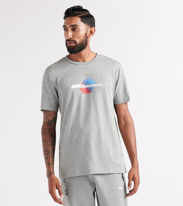 Puma  BMW Motorsport Logo Short Sleeve Tee  Grey - 59519203-060 | Jimmy Jazz