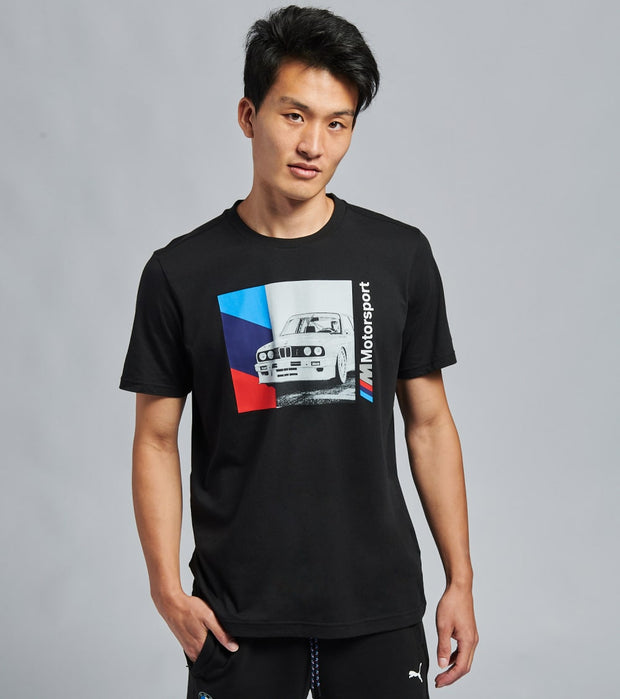 Puma  BMW Mms Graphic Tee  Black - 59610201-001 | Jimmy Jazz