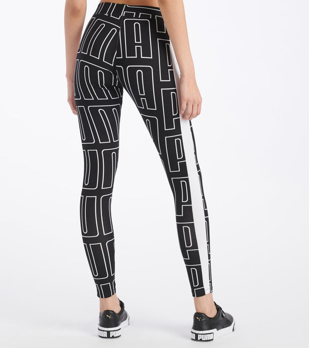 Puma  All Over Print Legging  Black - 59625201-001 | Jimmy Jazz
