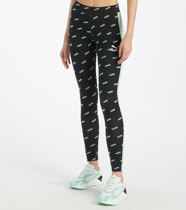 Puma  All Over Print Leggings  Green - 59625232-300 | Jimmy Jazz