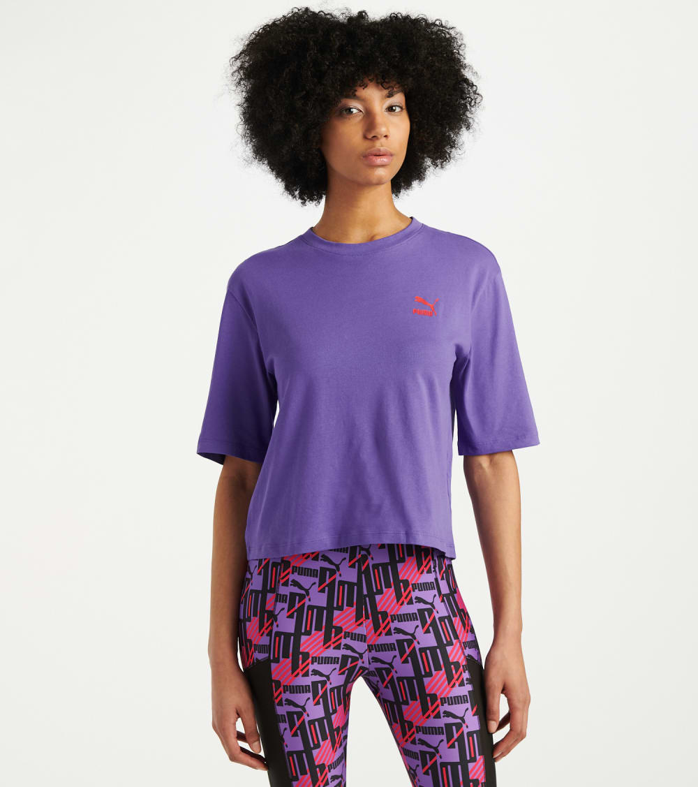 Puma  TFS Graphic Tee  Purple - 59625913-500 | Jimmy Jazz