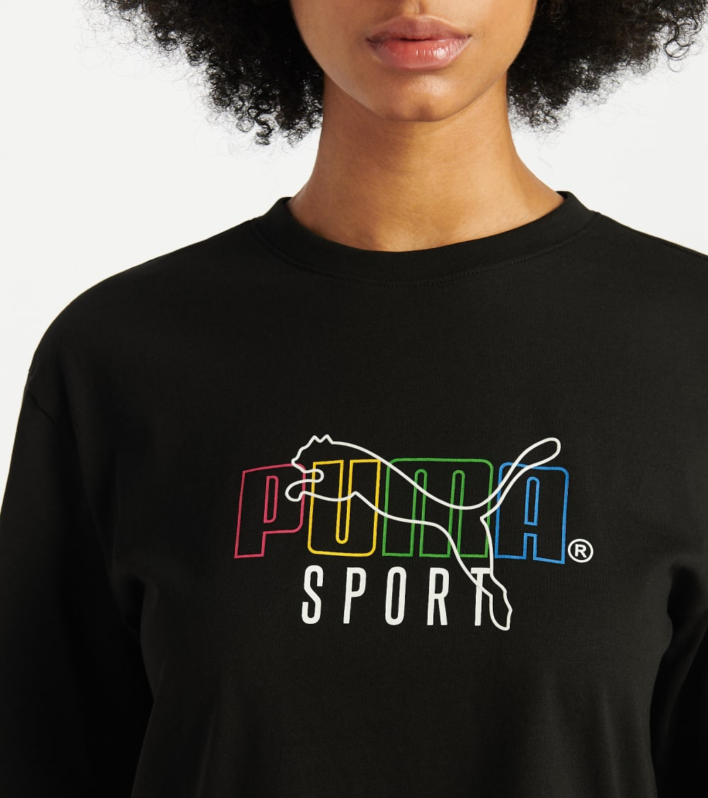 Puma  TFS Graphic Tee  Black - 59625951-001 | Jimmy Jazz